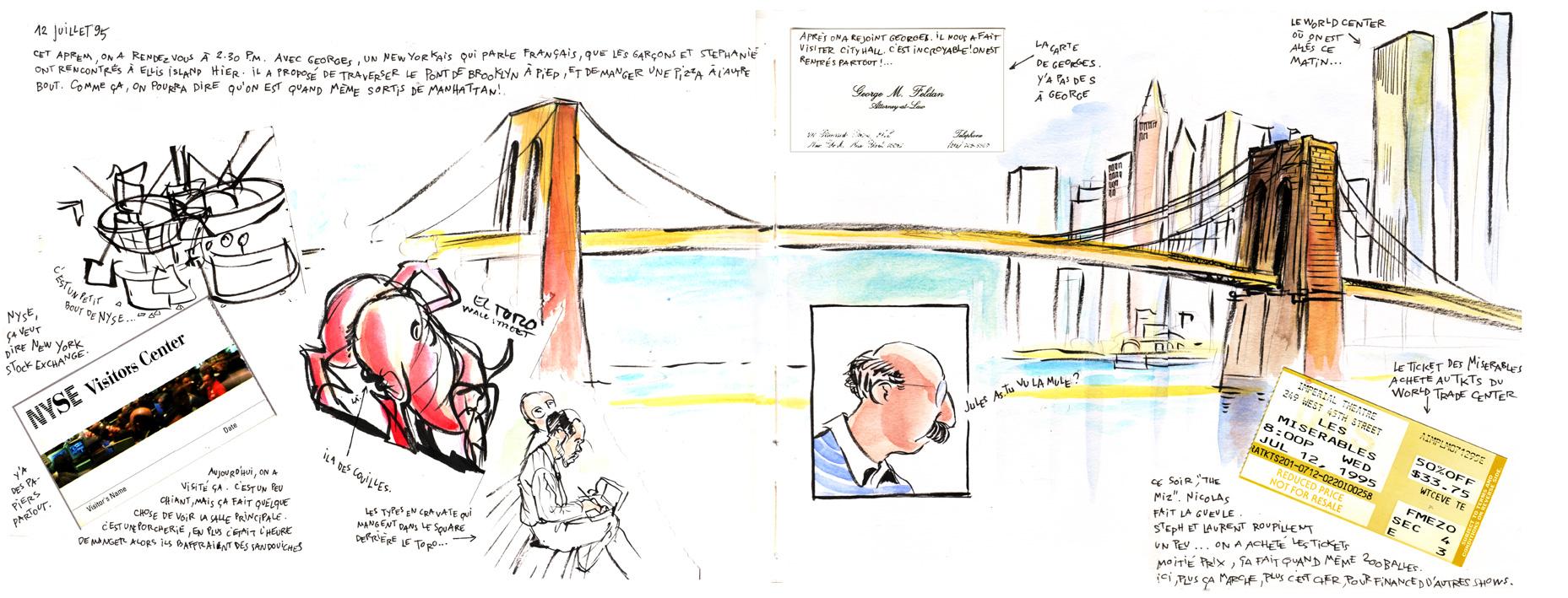 New York Stock Exchange, Brooklyn bridge, le WTC...