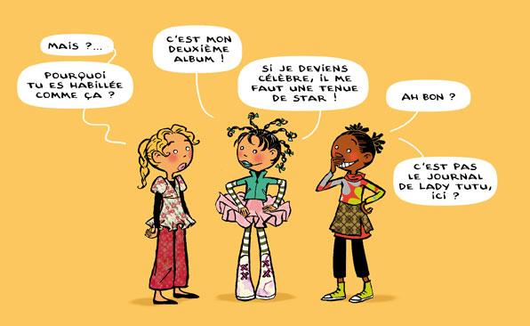 """Extrait du Tome 2 de """" Le Journal de Julie"""", collection BD kids, Milan Editions."""