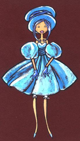 La Demoiselle en bleu