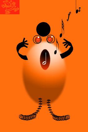 La cantatrice ovoïde