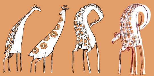 princessh illustration girafe again