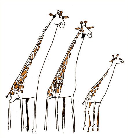 princessh girafes illustrations