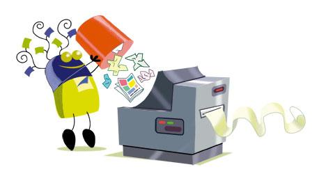 tri papier recyclage princessh illustration illustrateur illustratrice illustrator